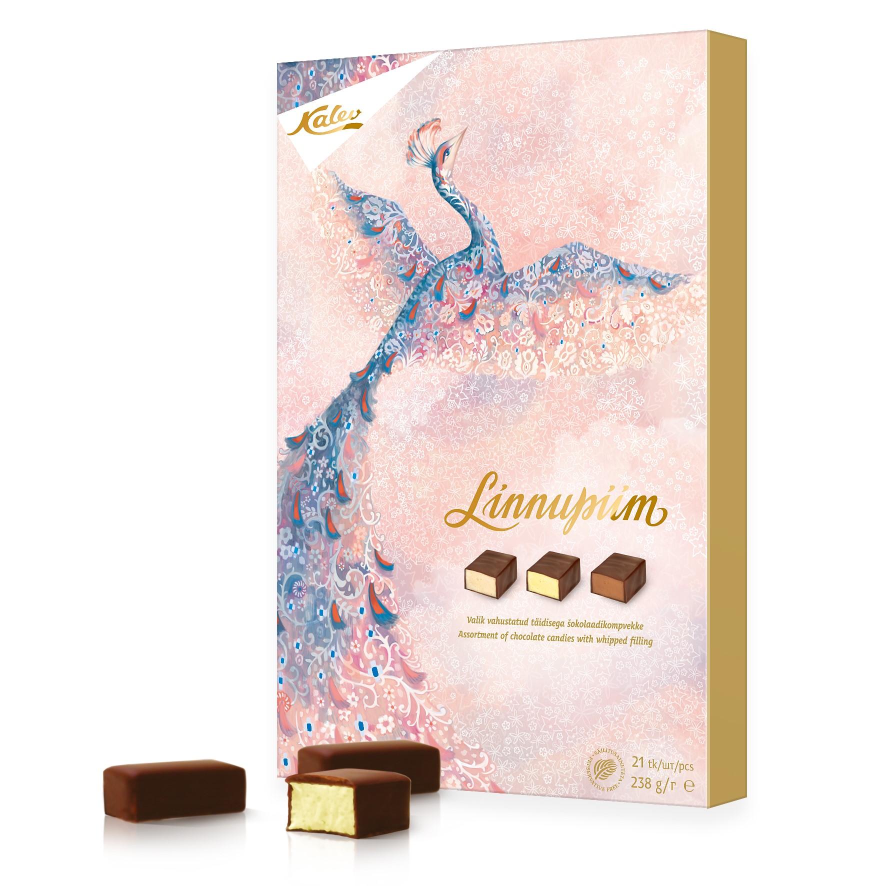 Набор шоколадных конфет со взбивной начинкой