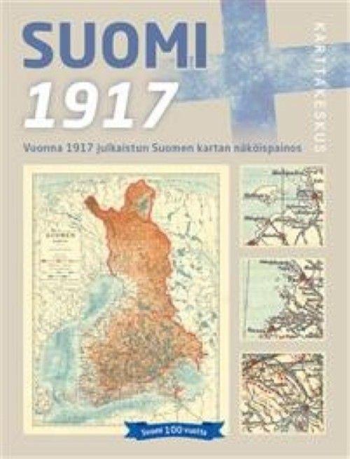 Карта Финляндии 1917 года в масштабе 1:1 500 000