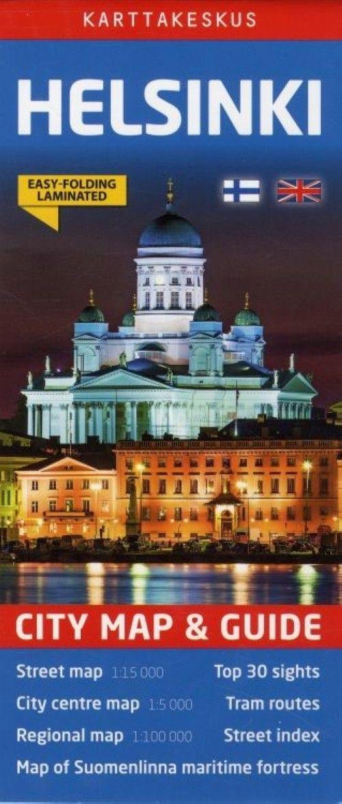 Хельсинки. Складная карта города. Helsinki City Map. 1:15 000. Easy folding laminated