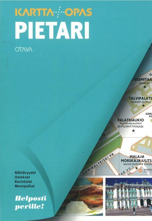 Pietari. Kartta+Opas. Sankt Peterburg. Karta i putevoditel. Na finskom jazyke.