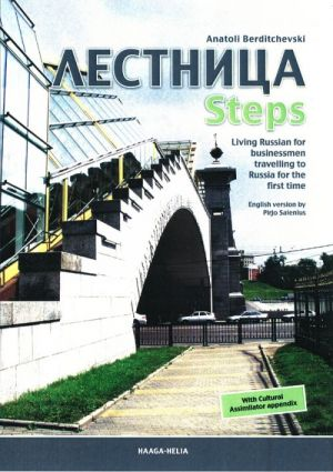 Lestnitsa Steps. Living Russian for businessmen travelling to Russia for the first time.  Hinta sisältää CD-levyn.