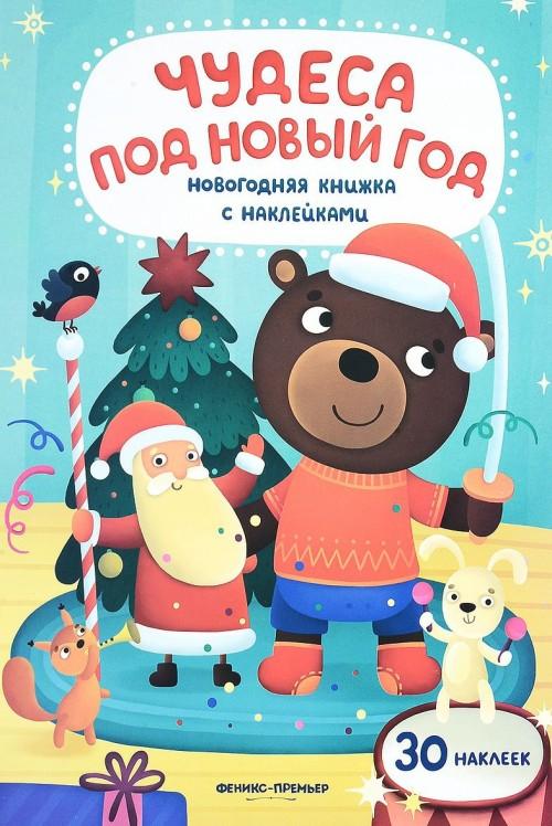 Чудеса под Новый год. книжка с наклейками
