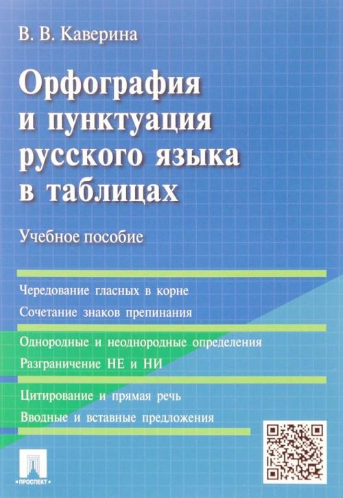 Orfografija i punktuatsija russkogo jazyka v tablitsakh