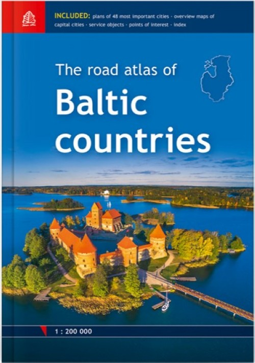 Baltic countries road atlas 1:200 000