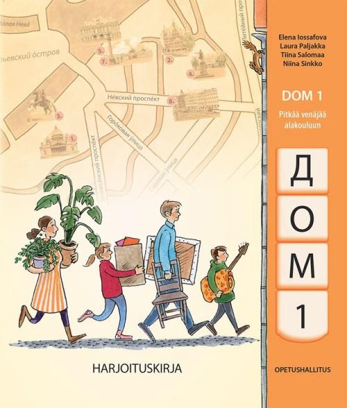 Дом 1. DOM 1 - Pitkää venäjää alakouluun. Harjoituskirja