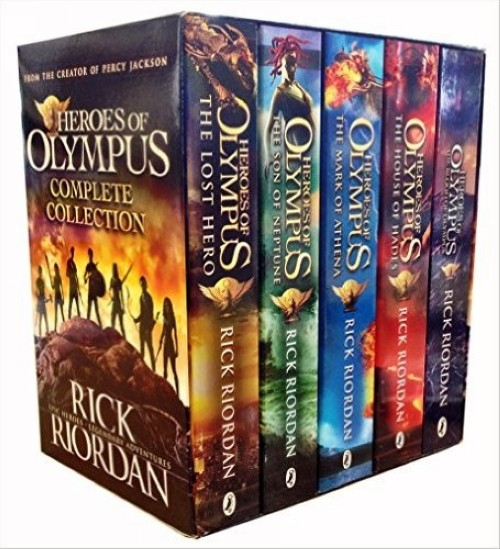 Heroes of Olympus Complete Collection 5 Books Box Set -The Lost Hero/The Son of Neptune/The Mark of Athena/The Blood of Olympus