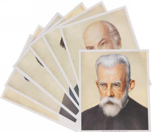 Velikaja nauka. Russkie uchenye XX veka. Demonstratsionnye kartinki (nabor iz 12 kartochek)