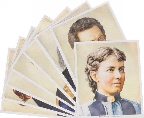 Velikaja nauka. Russkie uchenye XVIII-XIX vekov. Demonstratsionnye kartinki (nabor iz 12 kartochek)