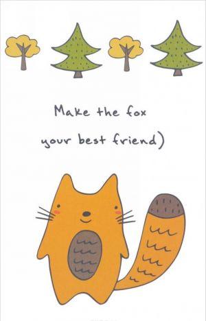 "Bloknot dlja zapisej ""Make the fox your best friend"" (A5)"