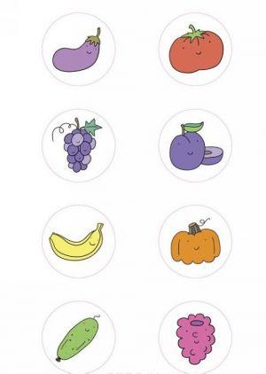 Ovoschi, frukty i jagody (+ naklejki)