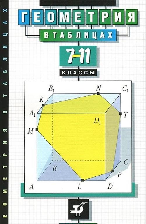 Геометрия. 7-11 классы. В таблицах