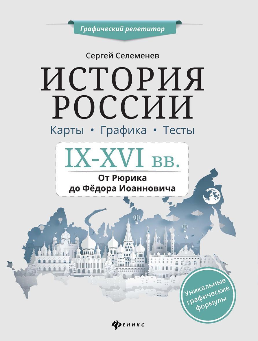 Istorija Rossii. IX-XVI v. Karty. Grafika. Testy