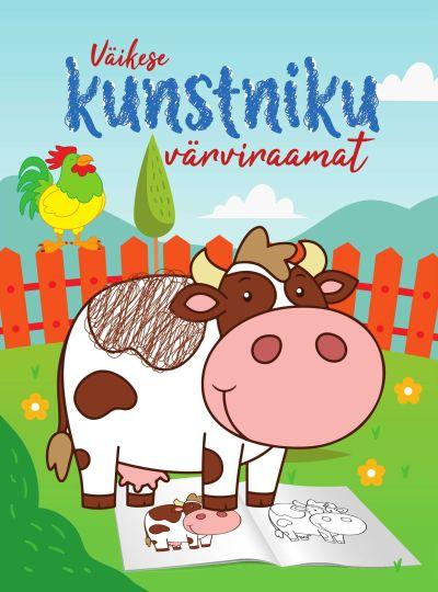 Väikese kunstniku värviraamat. lehm