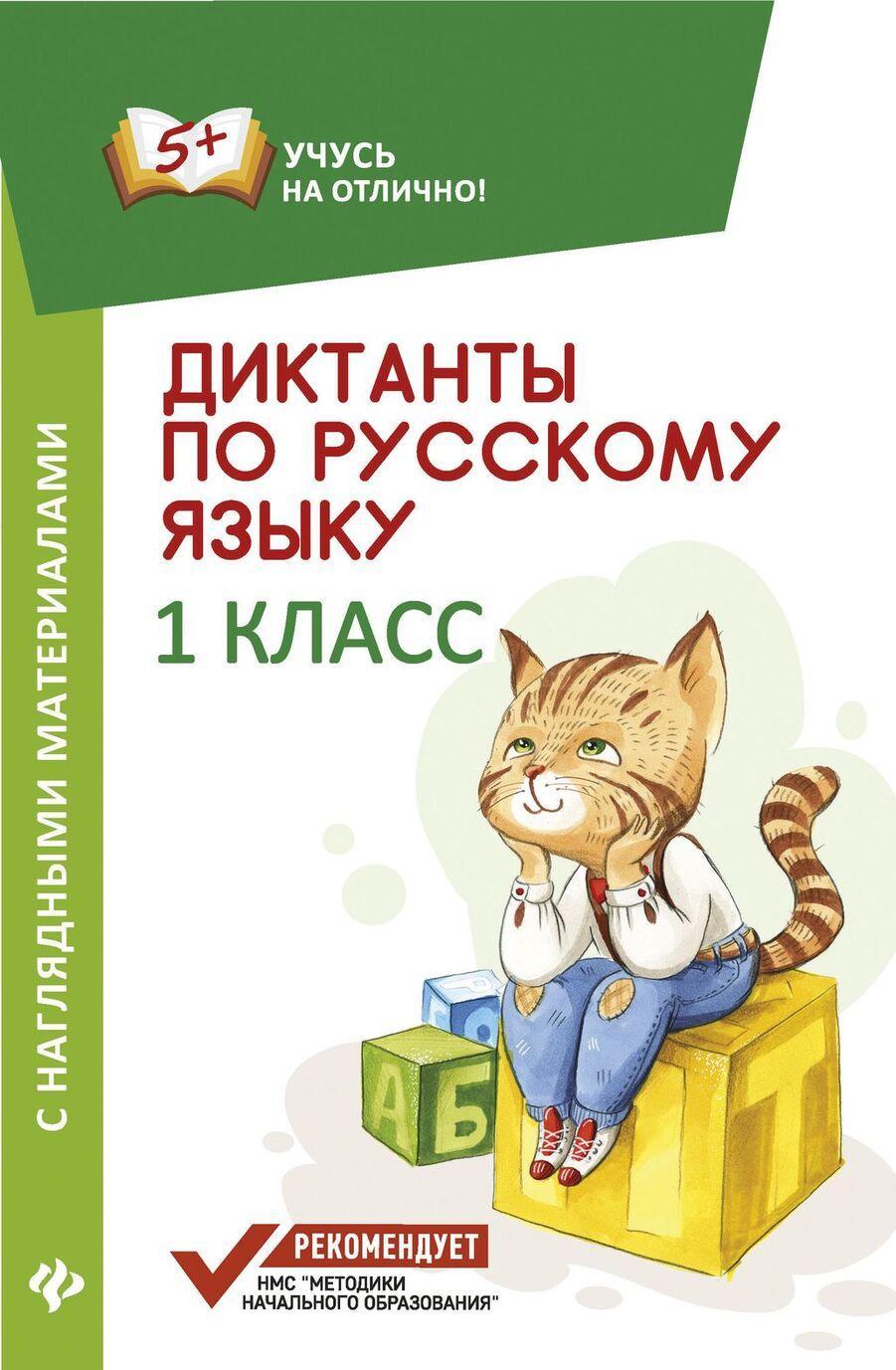 Diktanty po russkomu jazyku s nagl.mater.:1 klass d