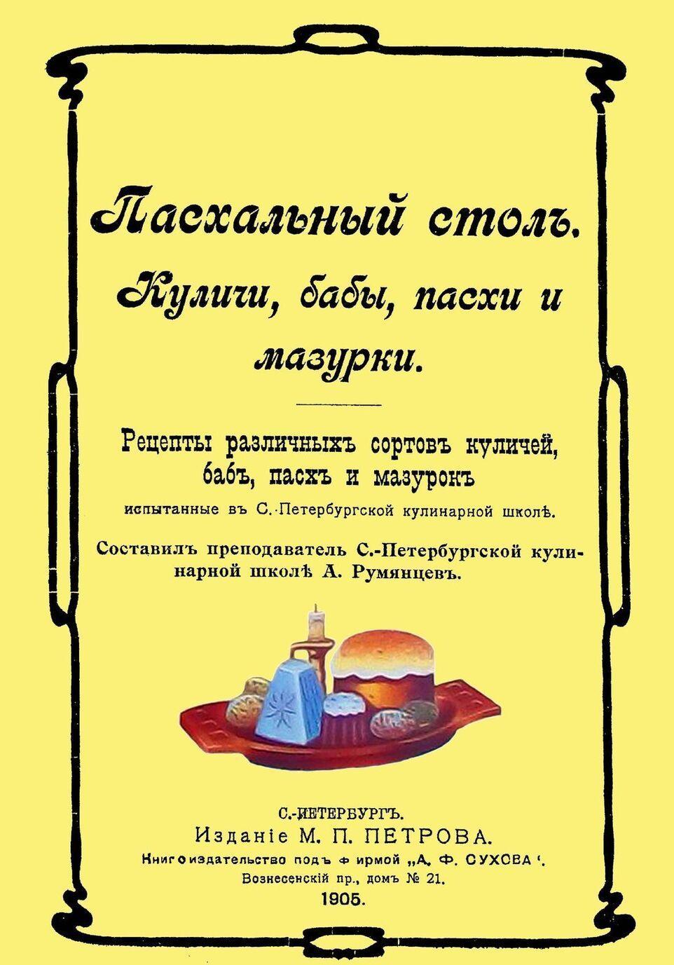 Paskhalnyj stol. Kulichi, baby, paskhi i mazurki.