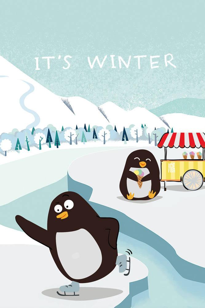 It's winter (Софт-тач тетрадь)
