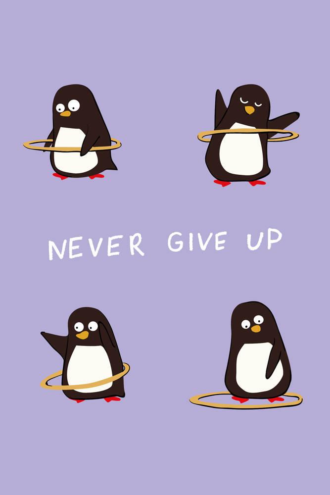 Never give up (Софт-тач тетрадь)