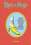 Rik i Morti. Bloknot. Banan Rik (A5, 72 l., kontentnyj blok, so stikerami)