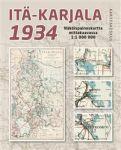 Itä-Karjala 1934. Näköispainos 1:1 000 000 Kartta, viikattu