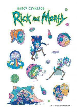Nabor stikerov. Rik i Morti (format A5, v pakete)