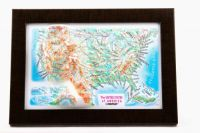 United States. USA. High raised relief panorama. 3D Souvenir map 10 cm.
