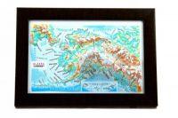 Alaska. High raised relief panorama. 3D Souvenir map 10 cm.