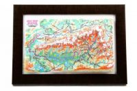 Great Smoky Mountains. High raised relief panorama. 3D Souvenir map 10 cm.