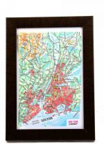New York City. High raised relief panorama. 3D Souvenir map 10 cm.