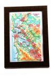 San Francisco. High raised relief panorama. 3D Souvenir map 10 cm.