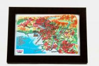 Los Angeles. High raised relief panorama. 3D Souvenir map 10 cm.