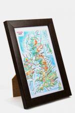 Iso-Britannia. Kohokuviokartta. 3D Matkamuistokartta