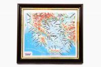 Kreikka. Kohokuviokartta. 3D Matkamuistokartta