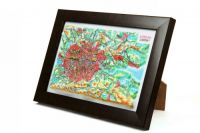London. High raised relief panorama. 3D Souvenir map 10 cm.
