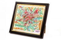 Paris. High raised relief panorama. 3D Souvenir map 10 cm.
