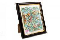 Moscow oblast. High raised relief panorama. 3D Souvenir map 10 cm.