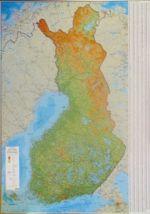 Финляндия. Настенная карта Финляндии с индексом мест. 1:1 000 000. 120*83 см.