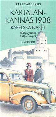 Karjalan kannas 1938, 1:200 000 - Kartta, viikattu, suomi, 2017