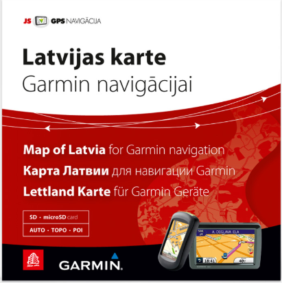 Map of Latvia for Garmin navigation