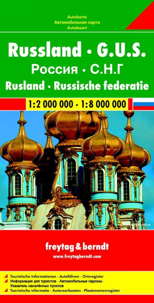 Russia. C.I.S. East Europe 1:2 000 000 - 1:8 000 000.