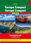 Europe Compact Road Atlas 1:1 500 000.