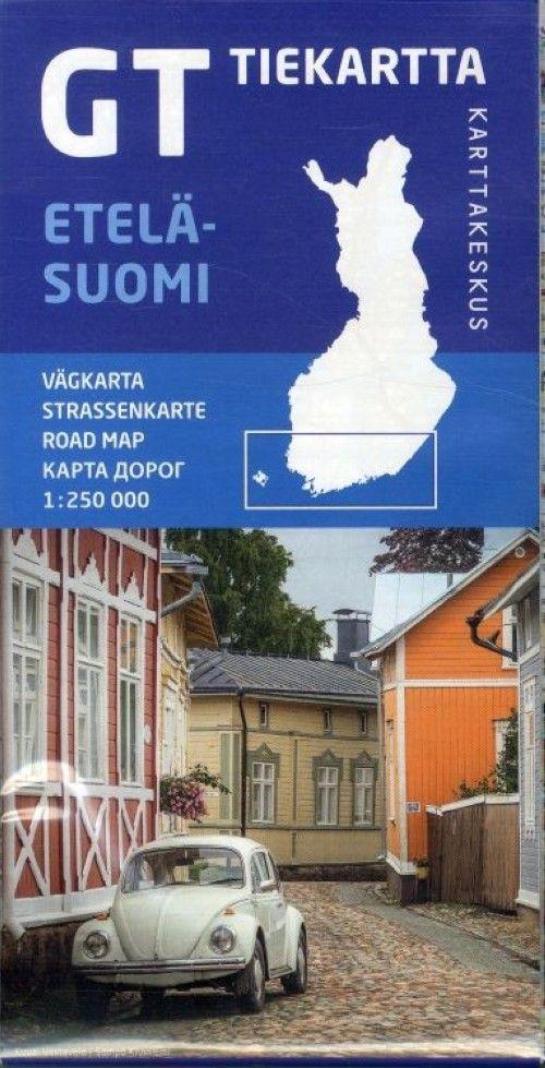 GT карта автодорог Южной Финляндии 1:250 000