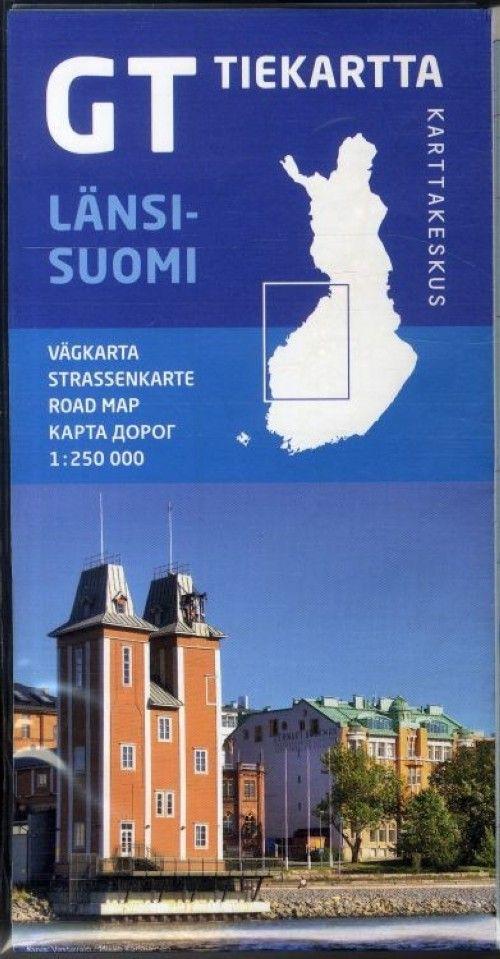 GT tiekartta Länsi-Suomi, Западная Финляндия 1:250 000
