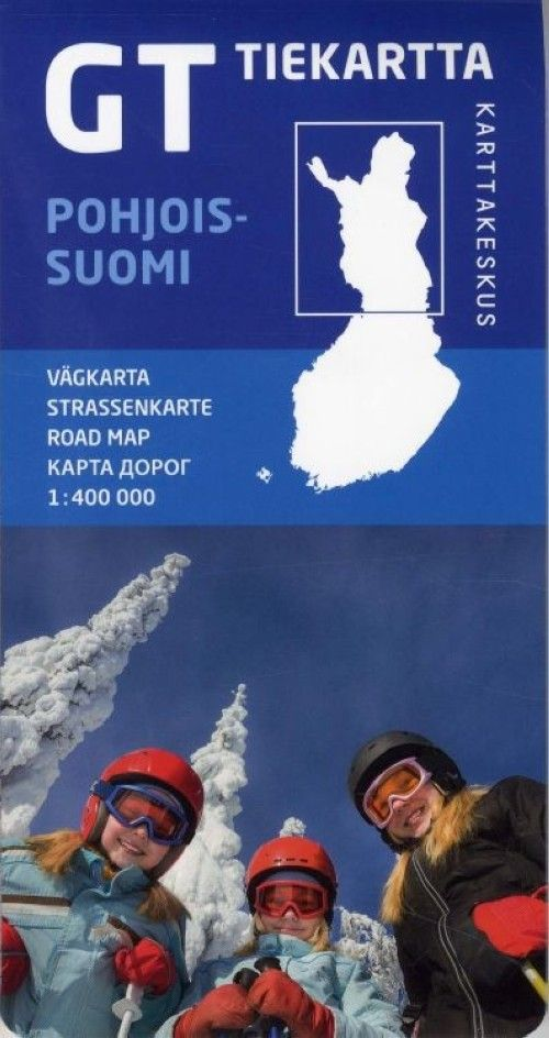 GT tiekartta Pohjois-Suomi, 1:400 000