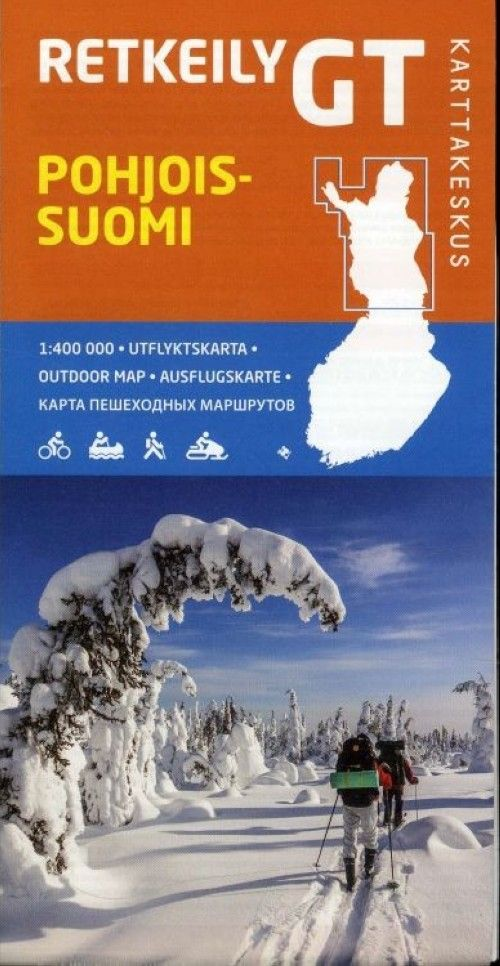 Outdoor map, GT Nothern Finland, 1:400 000