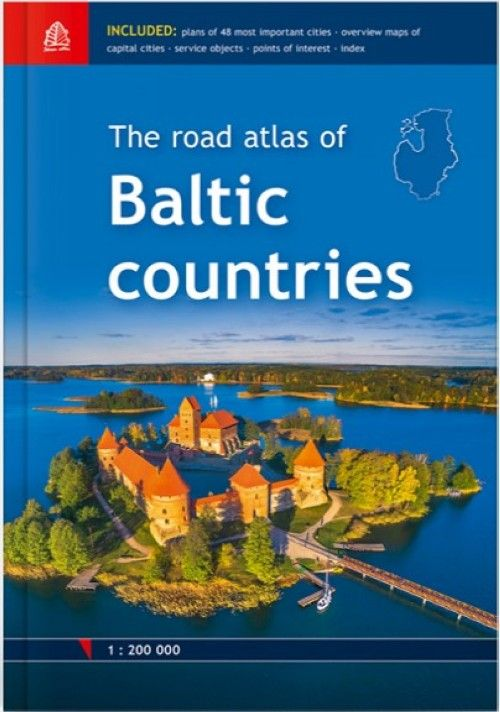 Атлас автодорог стран Балтии. Масштаб 1: 200 000