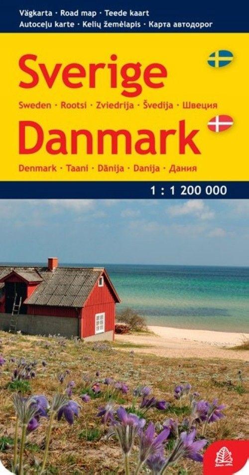Швеция и Дания. Масштаб 1:1 200 000