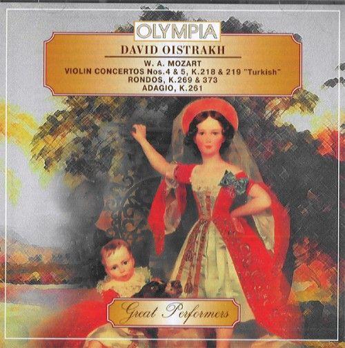 David Oistrakh, violin. Conducted by David Oistrakh. Mozart. Violin concerto No 4 & 5. K. 218 & 219.