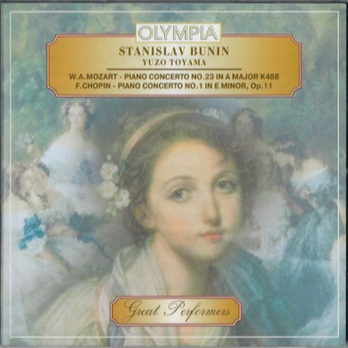 Stanislav Bunin, piano. Mozart - Piano Concerto No. 23, A Major K488 / Chopin - Piano Concerto No. 1, E Minor, Op.11 - NHK Symphony Orchestra, cond. Yuzo Toyama