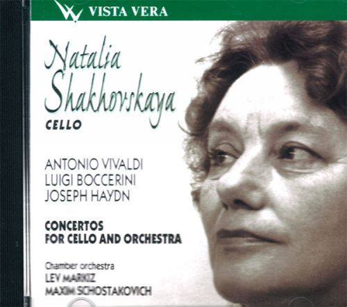Natalia Shakhovskaya, Cello. Vivaldi, Boccerini,Haydn. Concertos for cello and orchestra.Lev Markiz. Maxim Shostakovich.