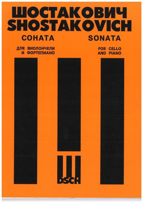 Sonata for cello and piano. Op. 40. Cello part edited by Victor Kubatsky.Fingering and bowing by Mstislav Rostropovich.